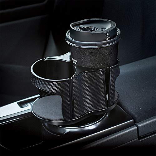 Auto Becherhalter, UMISKY 2 In 1 Multifunktionale 2 Cup Mount, Einzigartiges Design Alkoholfreies Getränk Kann Kaffee Flasche Stehen Verstellbare Abnehmbare Aschenbecher Lagerung Halterung (2-IN-1)