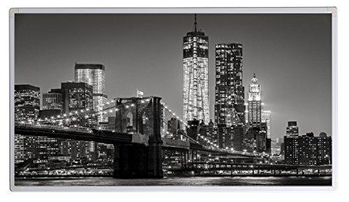 IH Engineering BV Bild Infrarotheizung (130W/300W/450W/600W/800W/1000W) mit 5 Jahren Garantie (1000, New York Brooklyn Bridge Schwarz Weiss)