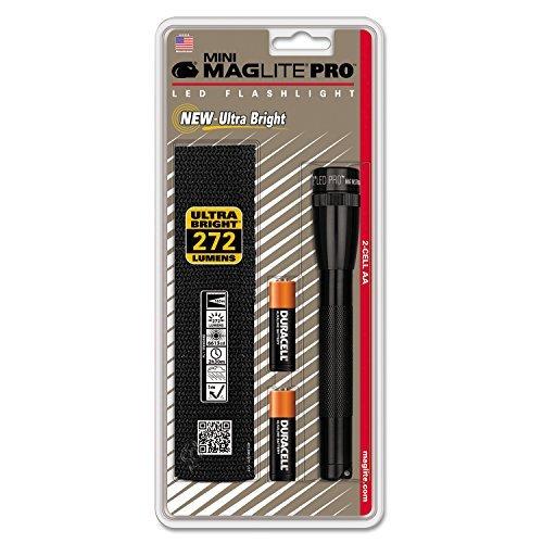 Mag-Lite Mini Pro LED Taschenlampe, 272 Lumen, ANSI Standard getest, schwarz SP2P01H (Neue Outdoor-leuchte)