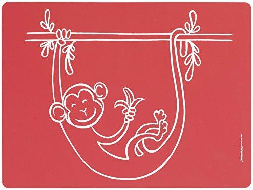Modernen Twist (Modern Twist Baby-Tischset AFFE-Geschäft 40 x 30 cm, Silikon, red, 40 x 32 x 1.12 cm)