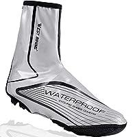LuTuo Overshoes Waterproof Cycling Shoe Covers, Warm Windproof Neoprene Hi Viz Rain Snow Boot Protector Feet Gaiters