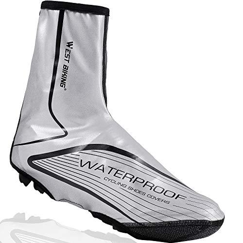 LuTuo Überschuhe Wasserdicht Fahrrad Radsportschuhe, Warm Winddicht Neopren High Visibility Regen Schnee Boot Protector Feet Gamaschen, 1 Paar