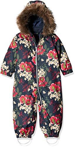 NAME IT Baby-Mädchen NMFSNOW08 Suit Big Flower 1FO NOOS Schneeanzug, Mehrfarbig (Dark Sapphire Dark Sapphire), (Herstellergröße: 98)