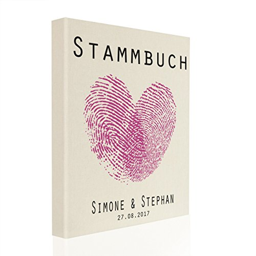 Stammbuch der Familie inkl. Personalisierung Leinen creme Nr. 44