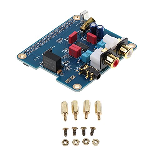 Magideal Dac + HiFi Dac Módulo de Tarjeta de Sonido deAudio Interfaz I2s para Raspberry Pi B + / 2b / 3b