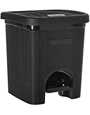 Signoraware Modern Lightweight Dustbin for Home and Office 12Ltr, Black