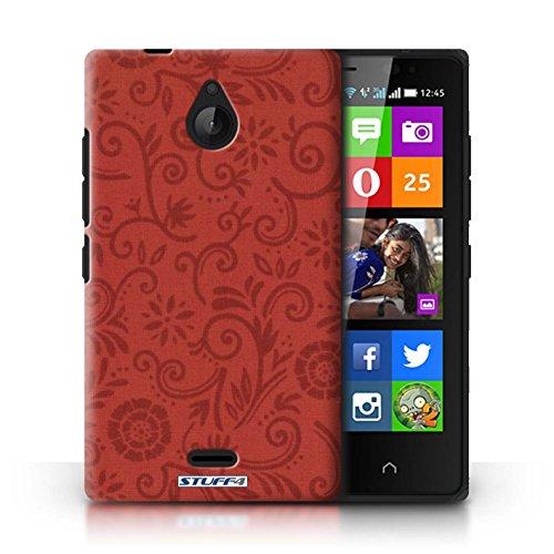 Kobalt® Imprimé Etui / Coque pour Nokia X2 Dual Sim / Fleur jaune conception / Série Motif Remous floral Fleur rouge