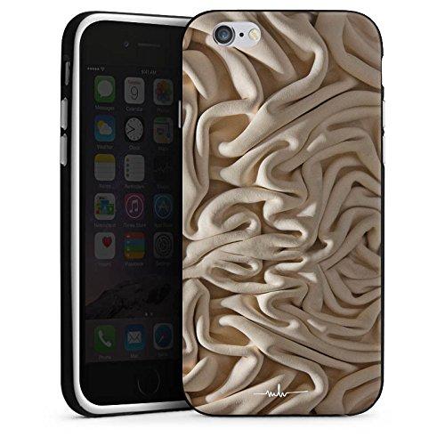 Apple iPhone X Silikon Hülle Case Schutzhülle Stoff Decke Mode Silikon Case schwarz / weiß