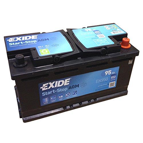 Preisvergleich Produktbild EXIDE AGM Start-Stopp-Batterie EK 950 EN (A): 850 12V 95AH neuestes Model 2014/15