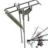 LaDicha Doppel Spring Angeln Stand Halterung Angelrute Pole Stand Rod Pole Fishing Tackle Supporttools
