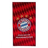 München FC Bayern Strandtuch/Badetuch/Duschtuch Rekordmeister - plus gratis Lesezeichen I Love