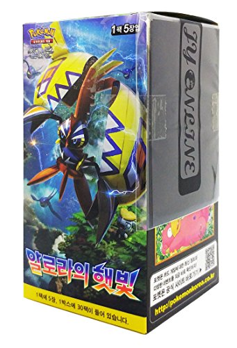 Pokemon Karte Sun & Moon Booster Pack Box 30 Packs in 1 Kasten Stunde der Wächter (Islands Await You) + 3pcs Premium Card Sleeve Koreanisch Ver TCG (Booster Pack Box)