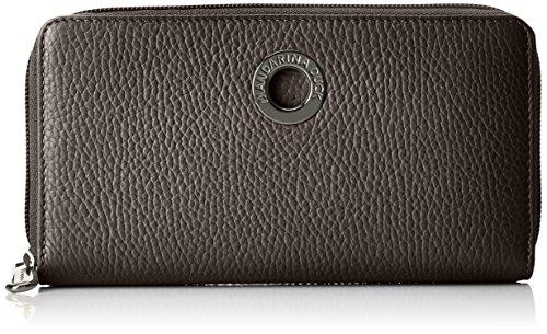 Mandarina Duck Mellow Leather Portafoglio, Donna, Nero, 2x10x19 centimeters (B x H x T)