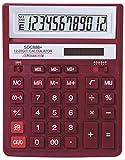 REBELL Re della bdc712rd calcolatrice da tavolo bdc712, 12cifre, dotazione standard e angewinkeltem Display, Rosso
