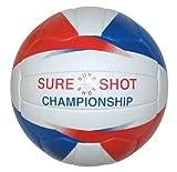 Sure Shot Girls Championship - Pelota de netball para niña, tamaño 34'', color blanco / azul / rojo
