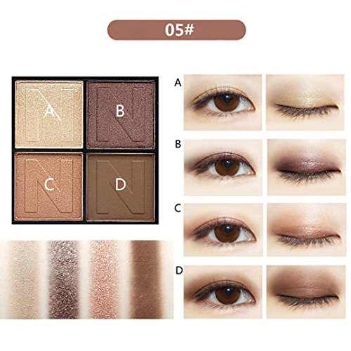 Dinglong Neue Mode brilliant dreifarbige Lidschatten matt Lidschatten Lidschatten Make-up (E)