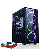 Fierce Maniac RGB Gaming PC - Schnell 3.6GHz Quad-Core Intel Core i3 8100, 1TB Festplatte, 8GB 2666MHz, AMD Radeon RX 550 2GB, Windows 10 installiert 1065170