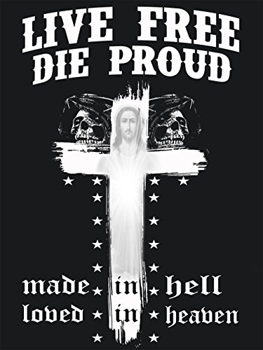"""LIVE FREE DIE PROUD - """"HELL GUARDIAN""""- HERREN T-SHIRT Schwarz"""