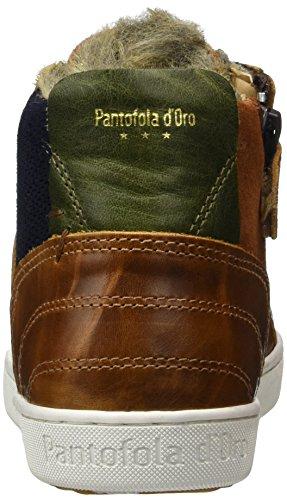 Pantofola d'Oro - Canaverse Ragazzi Fur Mid, Pantofole a Stivaletto Bambino Marrone (Tortoise Shell)