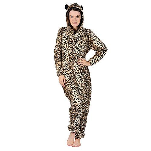 - 51OMXIdPORL - Ladies Fleece All In One Piece Pyjamas Jump Sleep Suit Onesie PJs Nightwear New