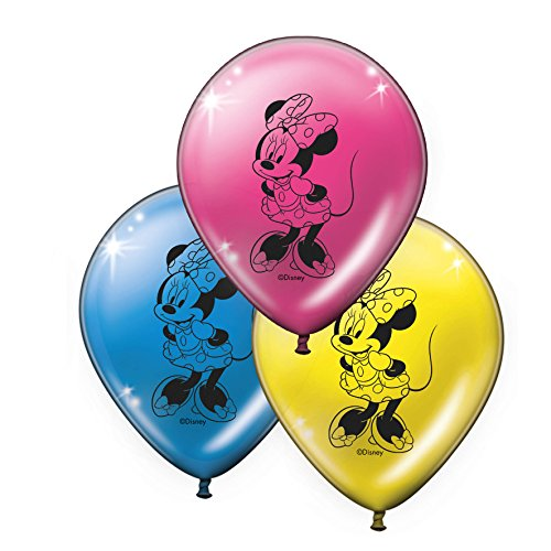 Verbetena, 014001139, pack 8 globos Minnie Mouse Pink, disney