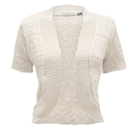 TOP VENDOR - Gilet - Cardigan - Manches Courtes - Femme noir * Taille Unique Blanc