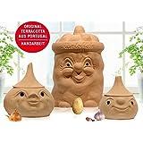 98208 / 98218 / 98228 - Vorratstöpfe-SET (Kartoffel, Zwiebel & Knoblauch - Gesicht)