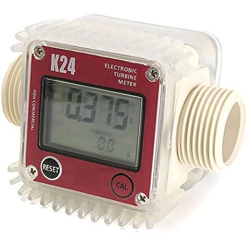 SaySure - K24 Digital Fuel Flow Meter for Chemicals water random color