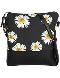 Flower Printed Long Sling Bag