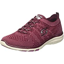 Skechers Go Walk 4-Sustain, Formateurs Femme, Rouge (Burgundy), 35 EU