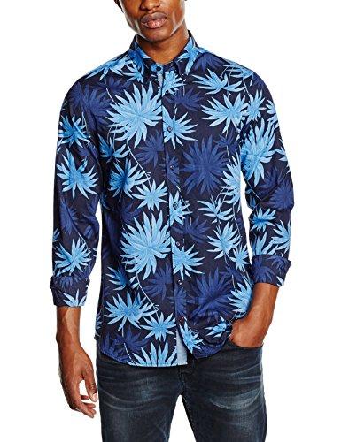 TOMMY HILFIGER MENSWEAR Multi Leaf Prt Sf3, Chemise Homme Bleu