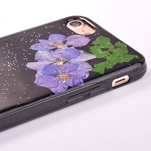 "iPhone 7Plus Handyhülle, CLTPY iPhone 7Plus Transparent Klare 3D Motiv Fall, [Ultra Hybrid] Echte Getrocknete Blumen Series Etui, Dünne Stoßfest Gummi Case für 5.5"" Apple iPhone 7Plus (Nicht iPhone 7) Floral 9"