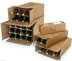 weinkarton flaschenkarton f r 1 flasche mit dhl und ups zulassung b robedarf. Black Bedroom Furniture Sets. Home Design Ideas