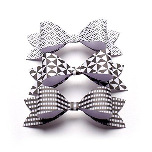 toga-fpd88-pack-de-14-noeuds-a-monter-papier-noir-blanc-77-x-27-x-15-cm