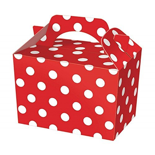 SUPER COOL KIDS PARTY BOXES - In a RED POLKA DOT design...