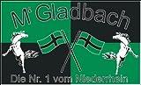 Fanfahne Gladbach Fahne Nr.1 vom Niederrhein Grösse 1,50x0,90