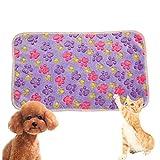 Shuda Haustierdecke mit Tiermuster, warm, waschbeständig, weicher Stoff, für Schutz für Welpen, Katzen, 104 x 76 cm