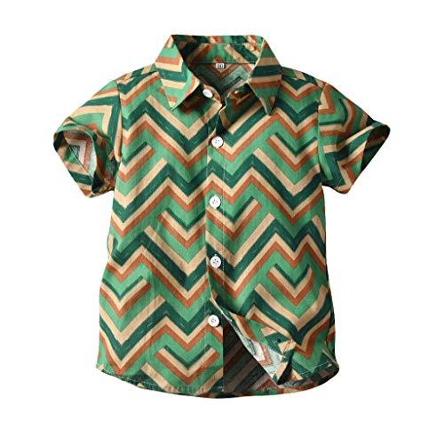 kleidung,Kinder Kurzarm Gentleman Shirt Top T-Shirt,Kleinkind Baby Kinder Jungen Gentleman Cartoon Bär gedruckt T-Shirt Tops Kleidung,Sommerkleidung ()