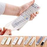 Custodia protettiva per telecomando, Uxradg trasparenti in silicone anti-polvere telecomando TV copertura, Remote Control Holder (16*5.5*2.5cm)