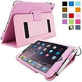 Snugg™ iPad Mini & Mini 2 Case - Smart Cover with Flip Stand & Lifetime Guarantee (Candy Pink Leather) for Apple iPad Mini & Mini 2 with Retina