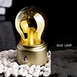 #7: BonZeal Retro Vintage Mini Glass Bulb Creative USB Rechargeable Table Desk Bedside Bed Ambient Soft LED Night Light Lamp