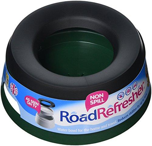 Road Refresher Antigoteo Agua Comida para Mascotas, Verde, large