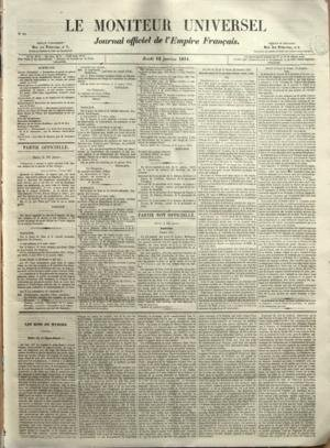 MONITEUR UNIVERSEL [No 17] du 17/01/1854 - SOMMAIR...