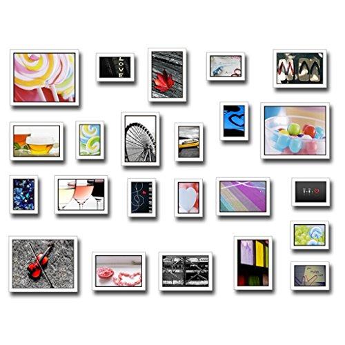 Cadre PS, décoration murale moderne simple cadre photo, avec des images, ensemble de 23 cadres @The harvest season (Couleur : C)