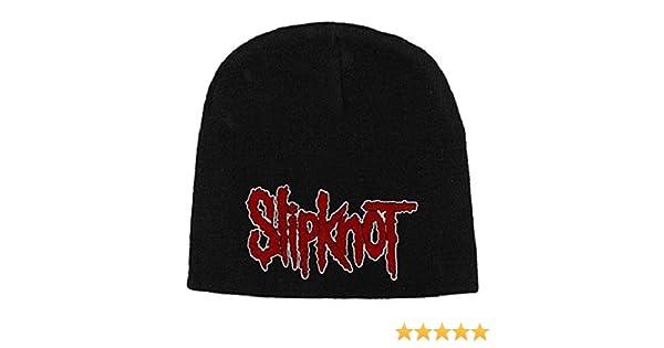 slipknot classic logo new official jersey black beanie hat  Amazon.co.uk   Music b8c332c5d925