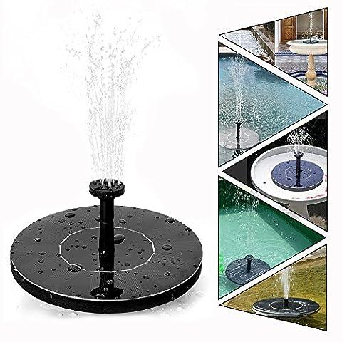 Fontaine Solaire Pompe Bassin Water - M·SY Pompe à eau Solaire 1.4W 7V pour Bassin Piscine Décoration de Jardin