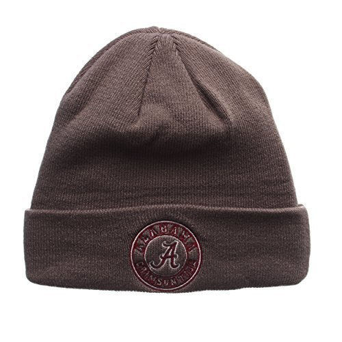 Alabama Crimson Tide Gray X-RAY Cuff Beanie Hat - NCAA Cuffed Winter Knit Toque Cap (Crimson Knit Beanie)