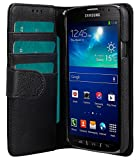 Melkco 4895158699130 Mappen-Buch Typ PU Mini Kunstleder Tasche für Samsung Galaxy S4 Active schwarz
