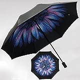 Unbekannt &Regenschirm Falten Sonnenschirme UV-Regenschirme Damen Doppel-Sonnenschirme (Farbe : E)
