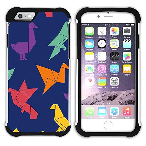 Graphic4You Origami Japanisch Kunst Hart + Weiche Kratzfeste Hülle Case Schale Tasche Schutzhülle für Apple iPhone 6 Plus / 6S Plus Design #6